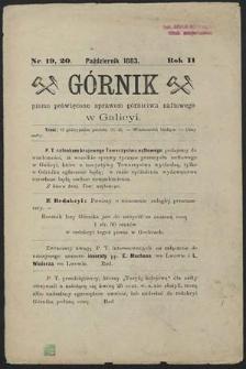 Górnik 1883 : z. 19, 20