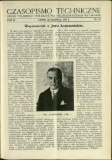 Czasopismo Techniczne : 1936 : nr 12