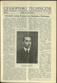 Czasopismo Techniczne : 1936 : nr 14