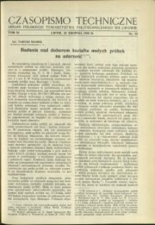 Czasopismo Techniczne : 1936 : nr 16
