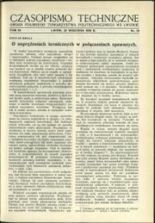 Czasopismo Techniczne : 1936 : nr 18