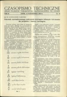 Czasopismo Techniczne : 1936 : nr 19