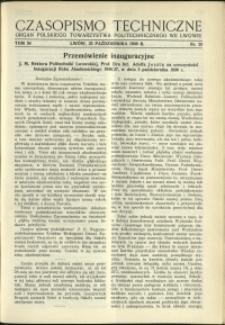 Czasopismo Techniczne : 1936 : nr 20