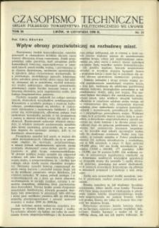 Czasopismo Techniczne : 1936 : nr 21