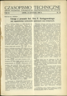 Czasopismo Techniczne : 1936 : nr 22
