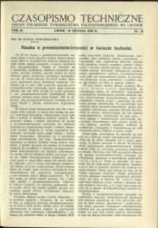 Czasopismo Techniczne : 1936 : nr 23