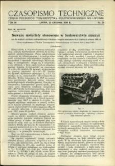 Czasopismo Techniczne : 1936 : nr 24