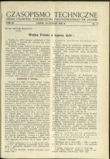 Czasopismo Techniczne : 1937 : nr 3