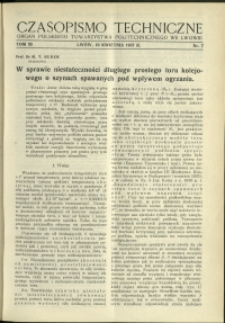 Czasopismo Techniczne : 1937 : nr 7
