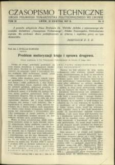 Czasopismo Techniczne : 1937 : nr 8