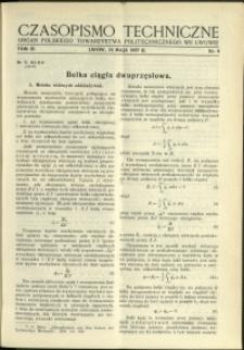 Czasopismo Techniczne : 1937 : nr 9