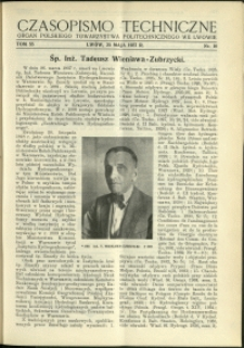 Czasopismo Techniczne : 1937 : nr 10