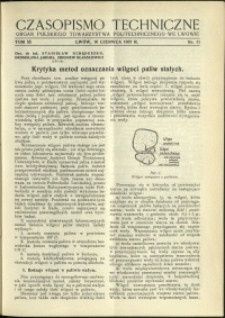 Czasopismo Techniczne : 1937 : nr 11