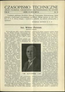 Czasopismo Techniczne : 1937 : nr 13