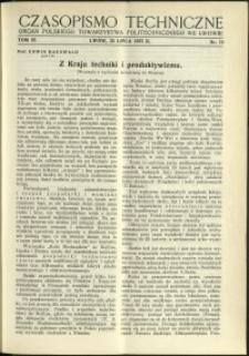 Czasopismo Techniczne : 1937 : nr 14