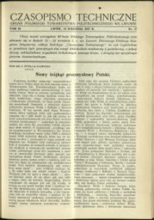 Czasopismo Techniczne : 1937 : nr 17