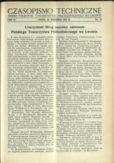 Czasopismo Techniczne : 1937 : nr 18