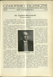 Czasopismo Techniczne : 1937 : nr 19