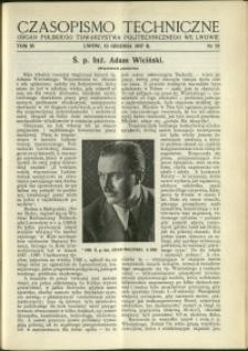 Czasopismo Techniczne : 1937 : nr 23