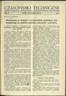 Czasopismo Techniczne : 1938 : nr 2