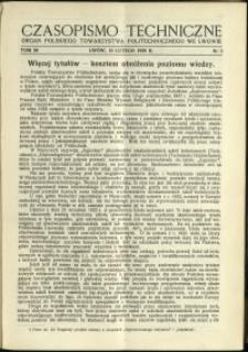 Czasopismo Techniczne : 1938 : nr 3