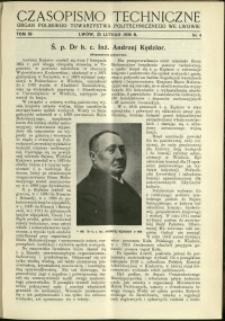 Czasopismo Techniczne : 1938 : nr 4