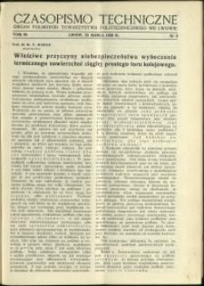 Czasopismo Techniczne : 1938 : nr 6