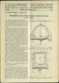 Czasopismo Techniczne : 1938 : nr 8