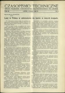 Czasopismo Techniczne : 1938 : nr 9