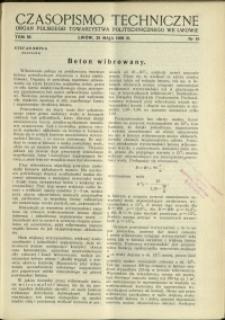 Czasopismo Techniczne : 1938 : nr 10