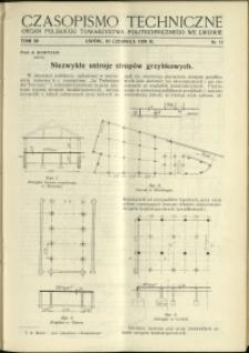 Czasopismo Techniczne : 1938 : nr 11