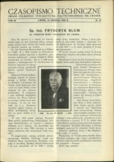 Czasopismo Techniczne : 1938 : nr 15