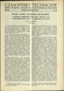 Czasopismo Techniczne : 1938 : nr 16
