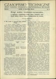 Czasopismo Techniczne : 1938 : nr 17