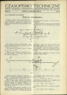 Czasopismo Techniczne : 1938 : nr 18